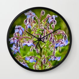 Wild Borage Wall Clock