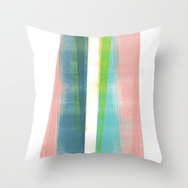Colorful Geometric Abstract Minimalist Monotype 2 Throw Pillow