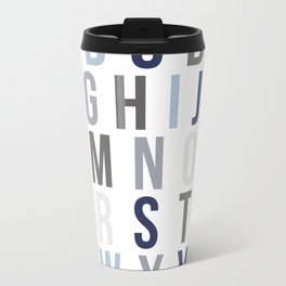 ABC's in Blues Metal Travel Mug