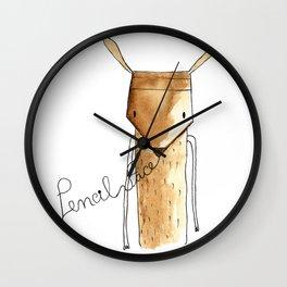 Pencil face Wall Clock
