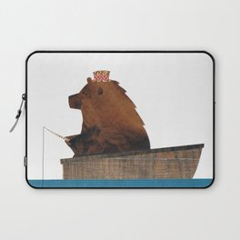 Cheltenham the Bear's fishing trip Laptop Sleeve