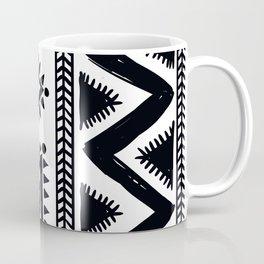 Tribal black and white Coffee Mug