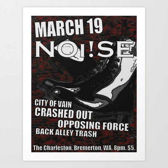 Show Flyer, 3/19/12 (NOi!SE) Art Print