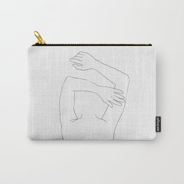 Minimal line drawing of woman sleeping Carry-All Pouch