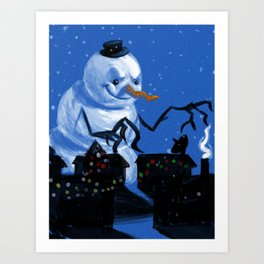 Snowzilla Art Print