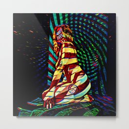 1881s-MS Abstracted Art Nude with Color Metal Print
