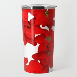Red Flowers Blossom Travel Mug