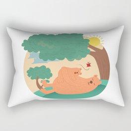 bear-ther and daughter-ooo nina bobo Rectangular Pillow