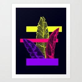 Neon Leaves #society6 #tropical Art Print