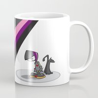 goth Mugs featuring Goth Girl by Atomic Sponge
