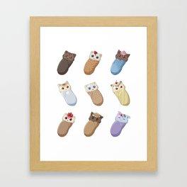 Sweet Treat Purrito Framed Art Print