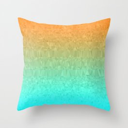 Blue and Orange Ombre - Flipped Throw Pillow