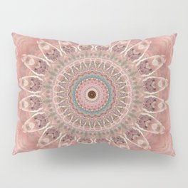 Mandala rose white Pillow Sham