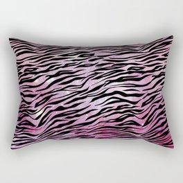 Glam Pink and Black Tiger Print Rectangular Pillow