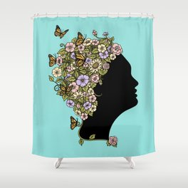 Floral Lady Shower Curtain