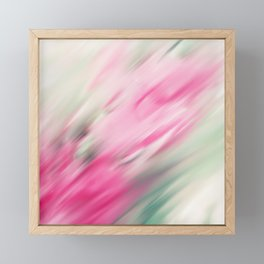 Modern abstract pink mint green brushstrokes Framed Mini Art Print