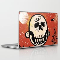charlie brown Laptop & iPad Skins featuring Charlie Brown - The Original Pumpkin King by Neil McKinney