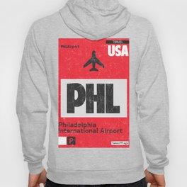 PHL RED airport code Hoody
