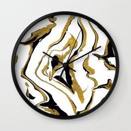Gold And Black Opulence Wall Clock