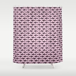 Pattern: Rose-Colored Sharkies ~ (Copyright 2015) Shower Curtain