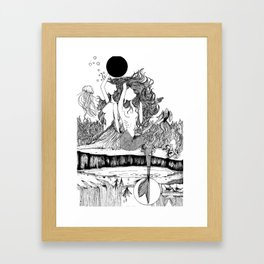 Dual nature/Be rough. Be gentle. Framed Art Print