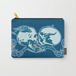 Skulls Kissing - Angel Demon - Flames Carry-All Pouch