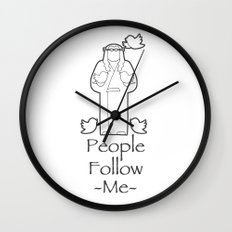People Follow Me Wall Clock