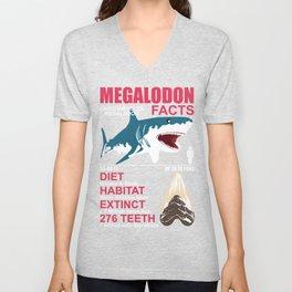 Megalodon Dinosaur Hai Lutig Flirt Fan Gift Unisex V-Neck