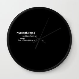 nyctophobia Wall Clock
