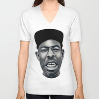 tyler the creator V-neck T-shirts featuring IFHY (Tyler the creator) by Black Neon