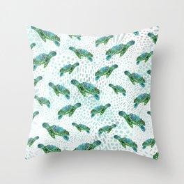 Sea Turtle Squad Throw Pillow