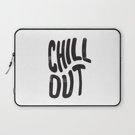 Chill Out Vintage Black and White Laptop Sleeve