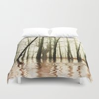 ghost Duvet Covers featuring GHOST TREES by Catspaws