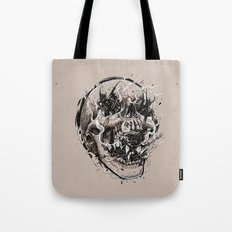 skull with demons struggling to escape Tote Bag
