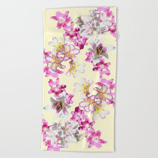 lily love on primrose Beach Towel
