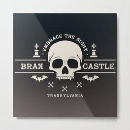 Gamer Geeky Chic Castlevania Inspired Bran Castle Transylvania Vampire Night Metal Print