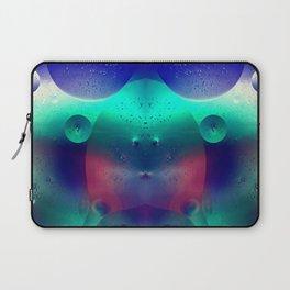 Vibrant Symmetry Oil Droplets Laptop Sleeve