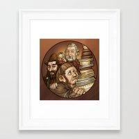 nori Framed Art Prints featuring Dori, Nori, Ori. by Ammo