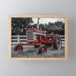 IH 240 Farmall Tractor Red Tractor Color Isolation Framed Mini Art Print