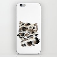 kitty iPhone & iPod Skins featuring Kitty by quackso