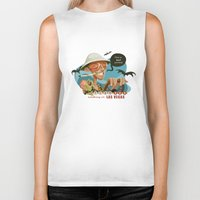 fear and loathing Biker Tanks featuring Fear and Loathing in Las Vegas by Danilo Fiocco