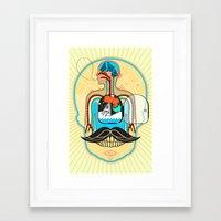body Framed Art Prints featuring body by danta