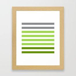 Stripes Gradient - Green Framed Art Print