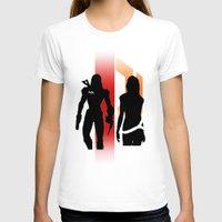 nan lawson T-shirts featuring Commander Shepard and Miranda Lawson by Pixel Design