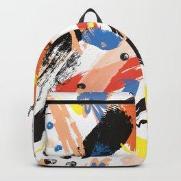Abstract Floral Splash Backpack