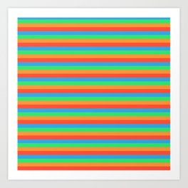 colorful horizontal stripes Art Print