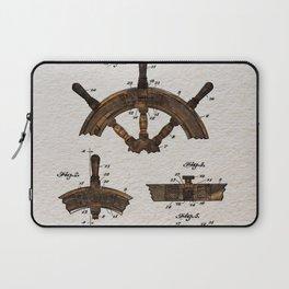Ship steer wheel color Laptop Sleeve