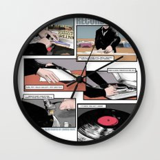 Records Worth Wall Clock