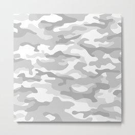 Snow Camo Metal Print