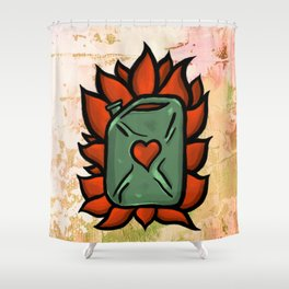 Huachicolero heart Shower Curtain